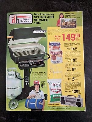 1984 Home Hardware 20th Anniversary Spring and Summer Catalog in Original Sleeve