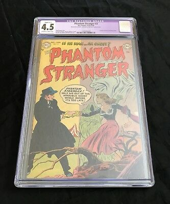 The Phantom Stranger #3 (1953) Cgc 4.5 Ow-W Pages Extremely Rare Golden Age Gem