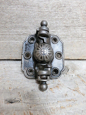 Vintage Victorian Sargent & Co Spring Loaded Cast Iron Screen Door Hinge