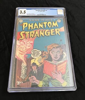 The Phantom Stranger #4 (1953) Cgc 3.5 Ow-W Pages Extremely Rare Golden Age Gem
