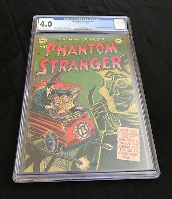 The Phantom Stranger #5 (1953) Cgc 4.0 Ow-W Pages Extremely Rare Golden Age Gem