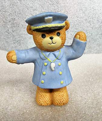 Lucy and Me ~ Police Patrol Traffic Controller ~ Teddy Bear Porcelain Figurine