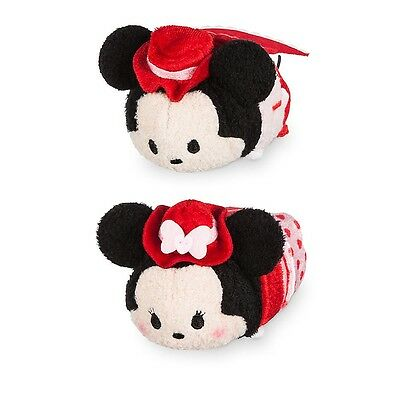 "AUTHENTIC Disney Store 2017 Mickey & Minnie Valentine's Love 3.5"" Tsum Tsum Set"