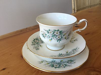 QUEEN ANNE BONE CHINA TRIO No 5704 PATTERN MADE IN ENGLAND