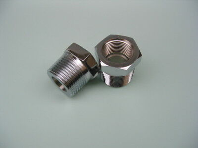 """made of steel Lowrider Hydraulics 3//4/"""" to 1//2/"""" Y block fitting kit chrome"""