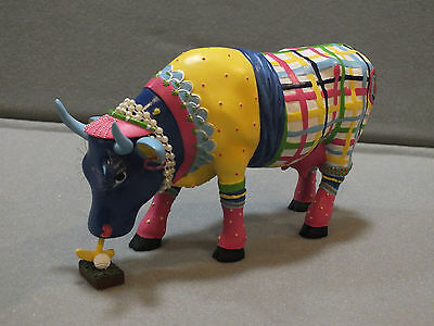 "Cow Parade Retired ""Miss Udder Putter"" Golfer Cow Item # 7702"