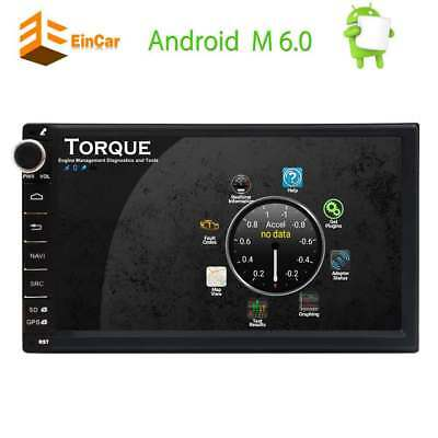"7"" Android 6.0 Autoradio Bluetooth GPS Navigation Wifi USB SD AUX DAB+ RDS 2 DIN"
