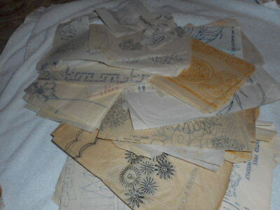 Job Lot of Vintage Embroidery Iron on Transfers-Mixed-For Embroidery or Artwork