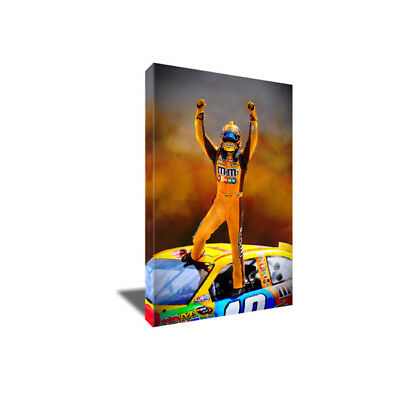 NASCAR Champion KYLE BUSCH Poster Photo Painting Artwork on CANVAS Wall Art