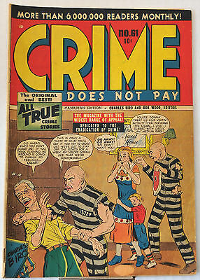 Crime Does Not Pay #61 (1948) Lev Gleason Publications, Charles Biro, FN range.