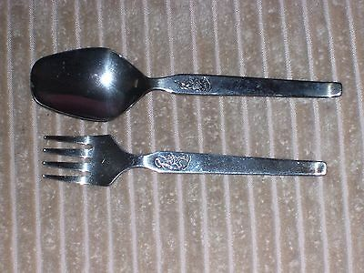 "Childs ""Once Upon a Time"" Falstaff Silver Plated Spoon & Fork Set"