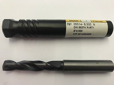 8.5mm Guhring 5514 Coated Carbide Drill