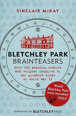 Bletchley Park Brainteasers Paperback Book Crosswords Puzzles
