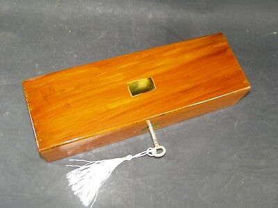 Antique Pen & Pencil Box Working Lock & Key 1870  Mother Of Pearl Center Piece
