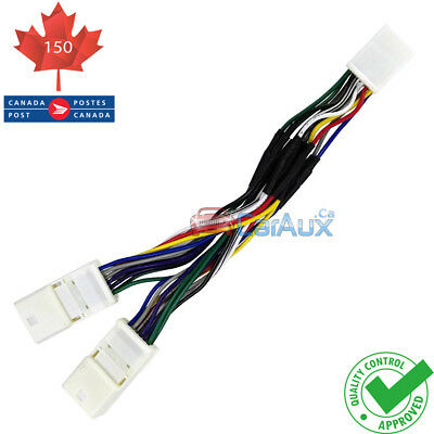 Lexus Toyota Y Cable Splitter 6+6Pin for Car Stereo AUX CD Changer