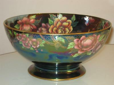 Stunning Vintage Newhall Boumier Ware Handpainted Lustre Pedestal Bowl