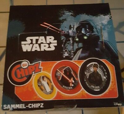 Star Wars Sammelchipz Topps Display Box 19 Tüten Neu!
