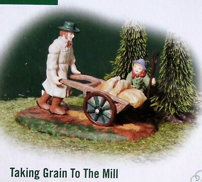Dept 56 MINT Taking Grain to the Mill 58545 W/Box, Dickens Village