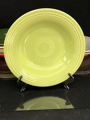 VINTAGE FIESTA WARE Deep Plate / Soup Bowl ~ in Chartreuse