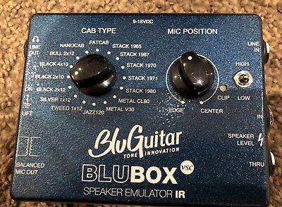 Thomas Blug - BLUGUITAR BLUBOX SPEAKER EMULATOR IR - BLUBOX