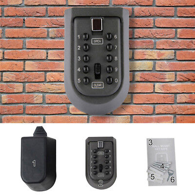 Outdoor Password Combination Key Safe Lock Box Security Storage Box Wall Mount
