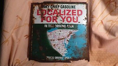Vintage Texaco Sky Chief Gasoline Sign- Localized For You- Driving Area #2- Gas