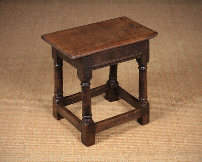 Antique Oak Joint Stool c.1810.