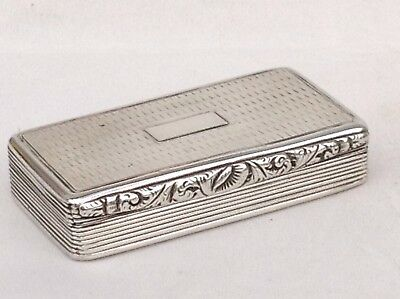 A Georgian Solid Silver Snuff Box, 1829