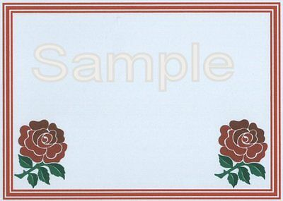 12 Rugby Union Crested cards