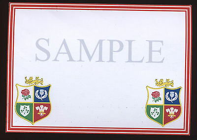 12 British Lions Crested cards