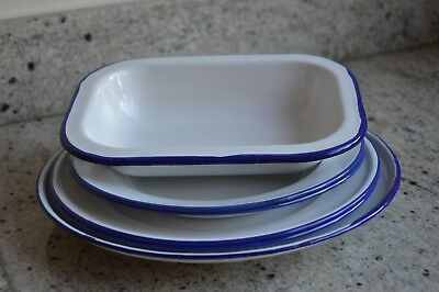 Collection of Enamel Dishes