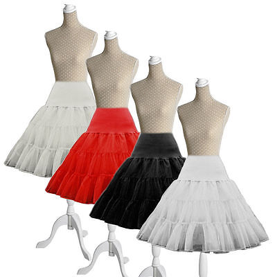 "26"" Net Skirt Rockabilly Tutu Retro Underskirt 50s Swing Vintage Petticoat Fancy"