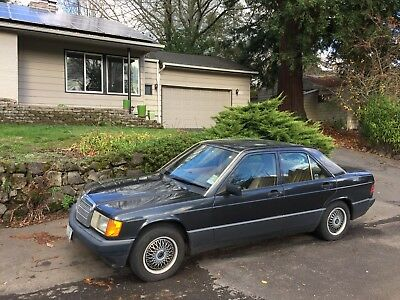 1991 Mercedes-Benz 190-Series blue 1991 mercedes 190e 2.6