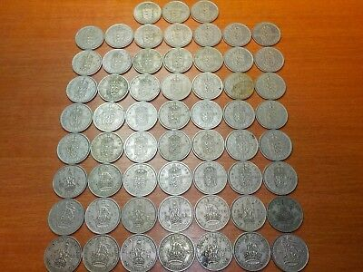 Mixed Lot of Circulated Coins from England   1 Shilling Coins