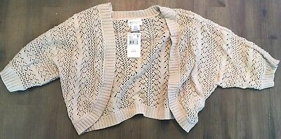 Motherhood Maternity Tan Open Front Knit Shrug Brand New Size Small Elbow Length