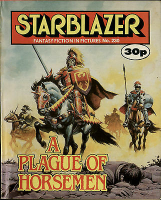 A Plague Of Horsemen,starblazer Fantasy Fiction In Pictures,no.230,1988,comic