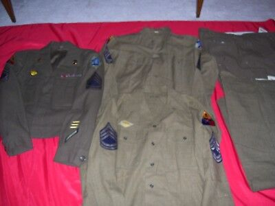 WWII 8th Armored Uniform, Discharge,Photos,Bracelet & Taped Interview
