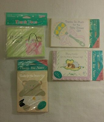 Baby Shower Thank You Cards w/Envelopes 4 Packages / 32 Count