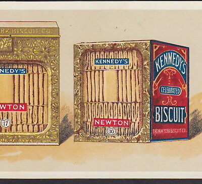 New York Biscuit Co 1890's Fig Newton Antique Nabisco Tin Advertising Trade Card