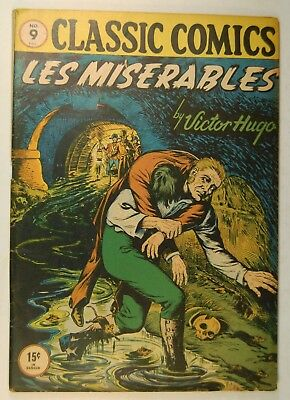 Classic Comics #9 Les Miserables (March 1943, Elliot Pub, CCr)  by Victor Hugo