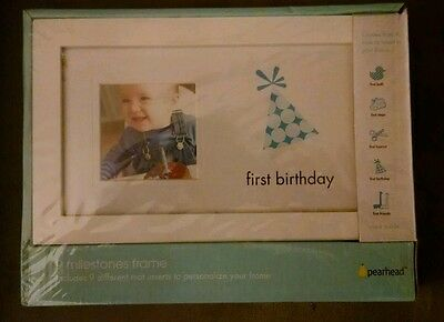 Baby Boy 1st Milestone Picture Frame with 9 mats NIP