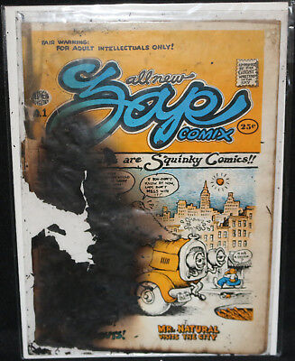 Zap Comix #1 - 1st Printing - Apex Novelties Personal File Copy (Burned) 1968