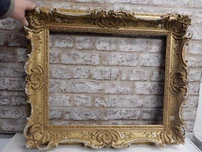"""really old picture frame antique  fits a 20 inch X 16"""" painting"""