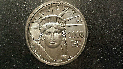 2008 1/10 oz $10 Platinum American Eagle PERFECT GEM GREAT EYE APPEAL MS 70 ICG