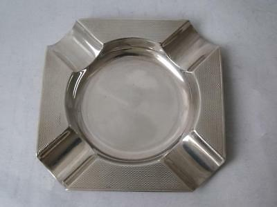 Smart Solid Sterling Silver Ash Tray 1966/ L 7.9 cm/ 35 g