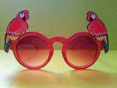 Parrot red fun sunglasses party novelty festive