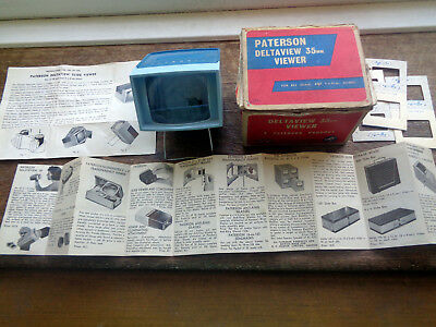 Vintage Paterson Deltaview 35mm Slide Viewer in Original Box with Leaflets