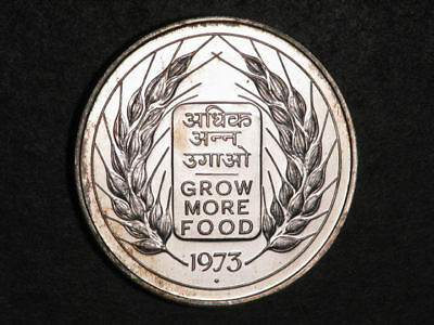 INDIA 1973 10 Rupees F.A.O. Silver Crown Proof-Like UNC