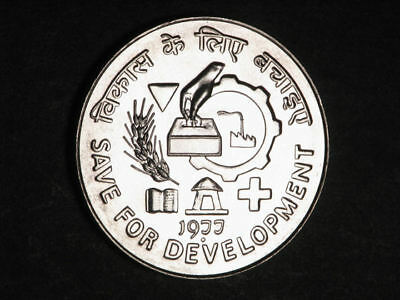 INDIA 1977 50 Rupees FAO Silver Proof-Like UNC