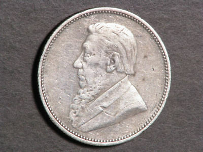 SOUTH AFRICA 1897 2 Shillings Silver F-VF
